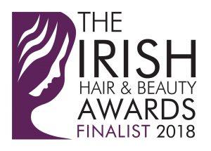 the irish hair & beauty awards finalist 2018 badge