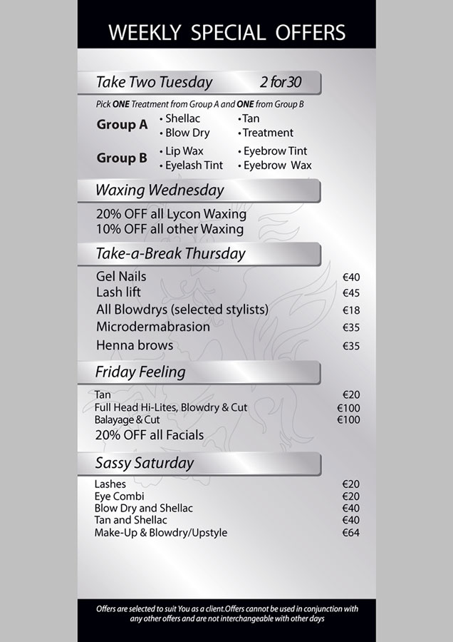 Serenity Hair and Beauty Clinic Weekly Special Offers